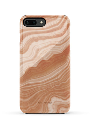 CUTEANLOVELY |Peach Sorbet Marble iPhone 7/8 Plus Case