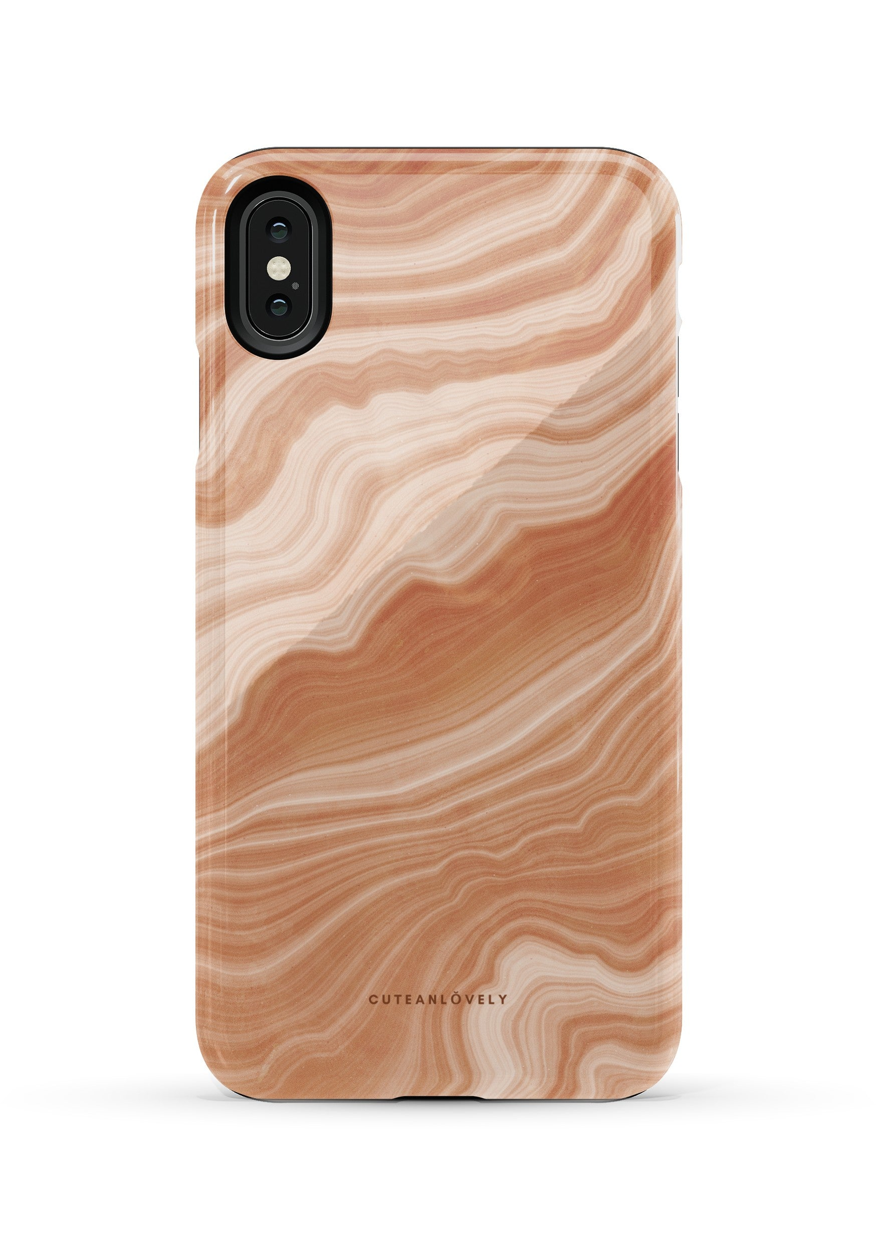 CUTEANLOVELY |Peach Sorbet Marble iPhone XS Max Case