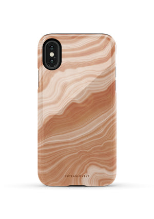 CUTEANLOVELY |Peach Sorbet Marble iPhone XS Case