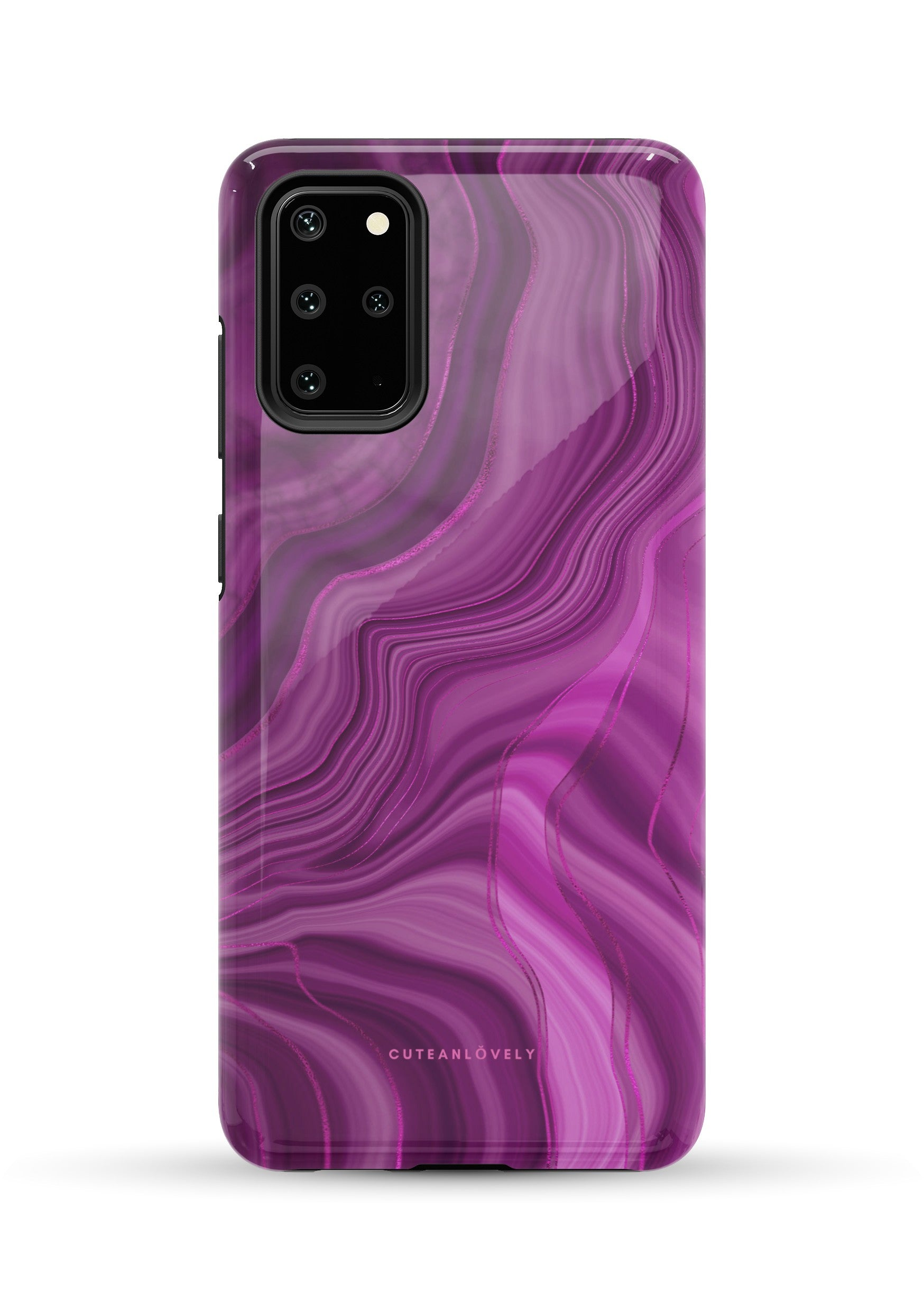 CUTEANLOVELY - Royal Purple Marble Samsung Galaxy Note S20 Plus Case