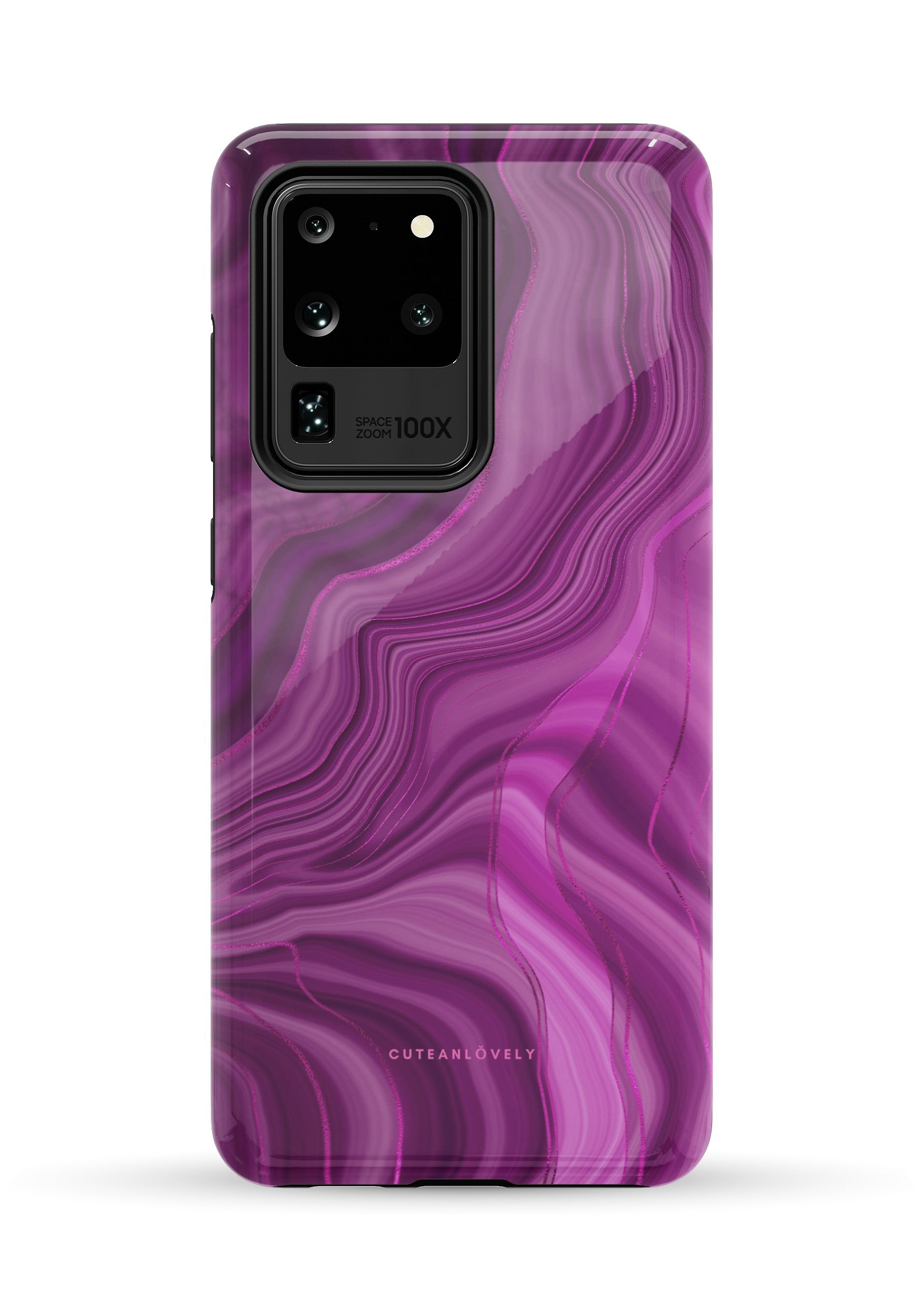 CUTEANLOVELY - Royal Purple Marble Samsung Galaxy S20 Ultra Case