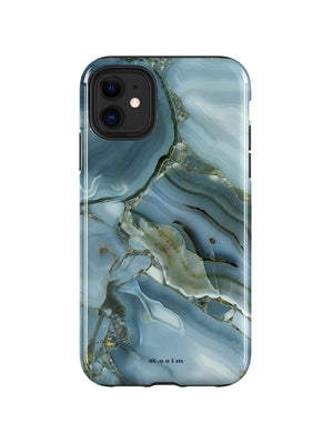 STAEIM | Blue Cracked Agate Marble iPhone 11 Case