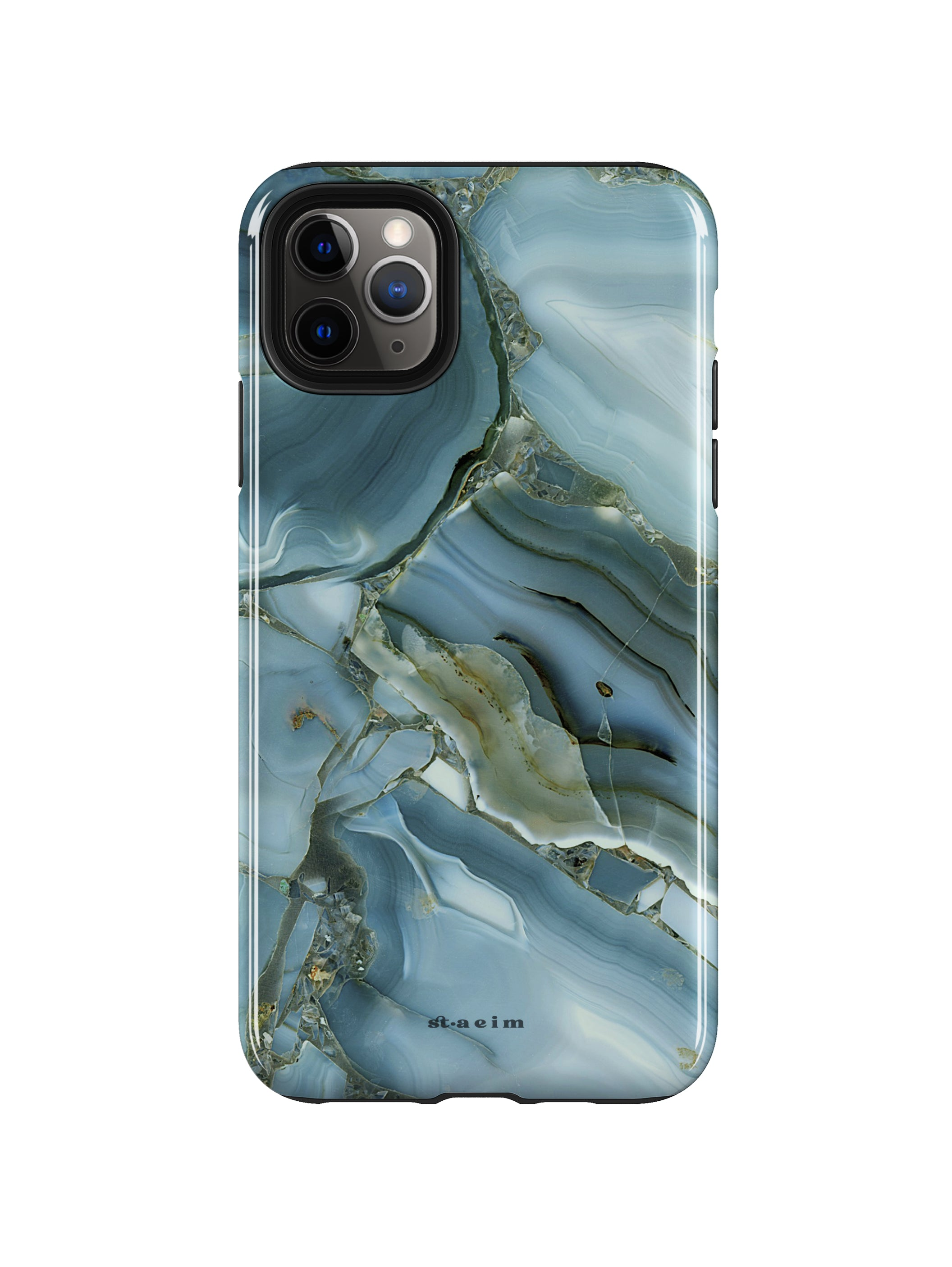 STAEIM | Blue Cracked Agate Marble iPhone 11 Pro Case
