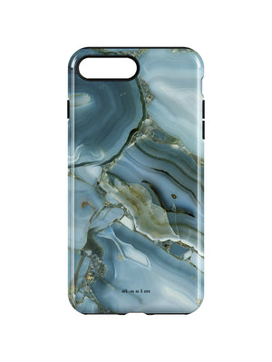 STAEIM | Blue Cracked Agate Marble iPhone 7/8 Plus Case