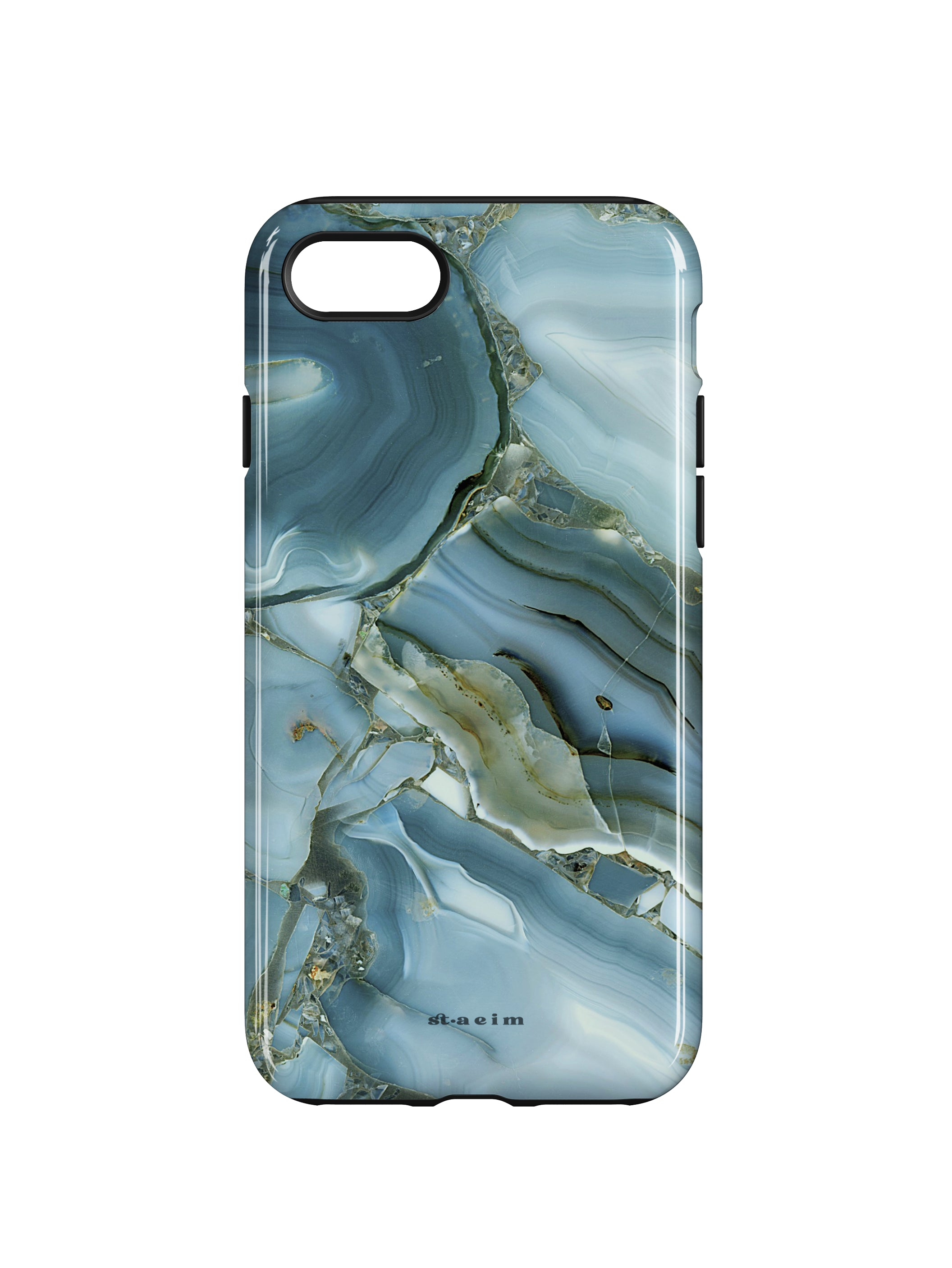 STAEIM | Blue Cracked Agate Marble iPhone 7/8 Case