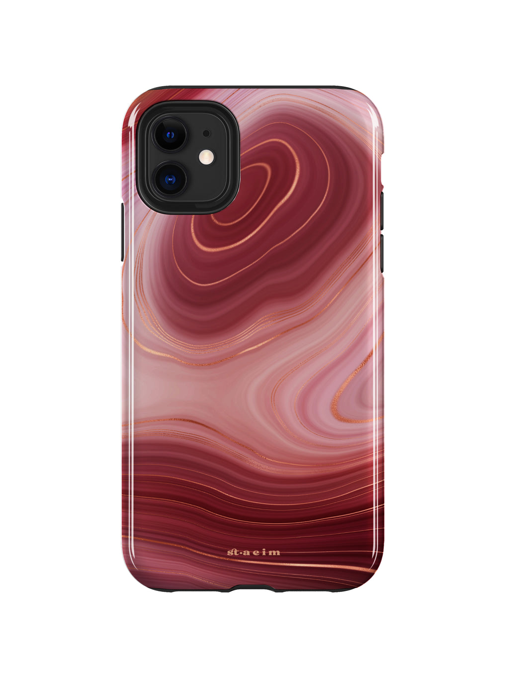 STAEIM | Burgundy Agate Marble iPhone 11 Case