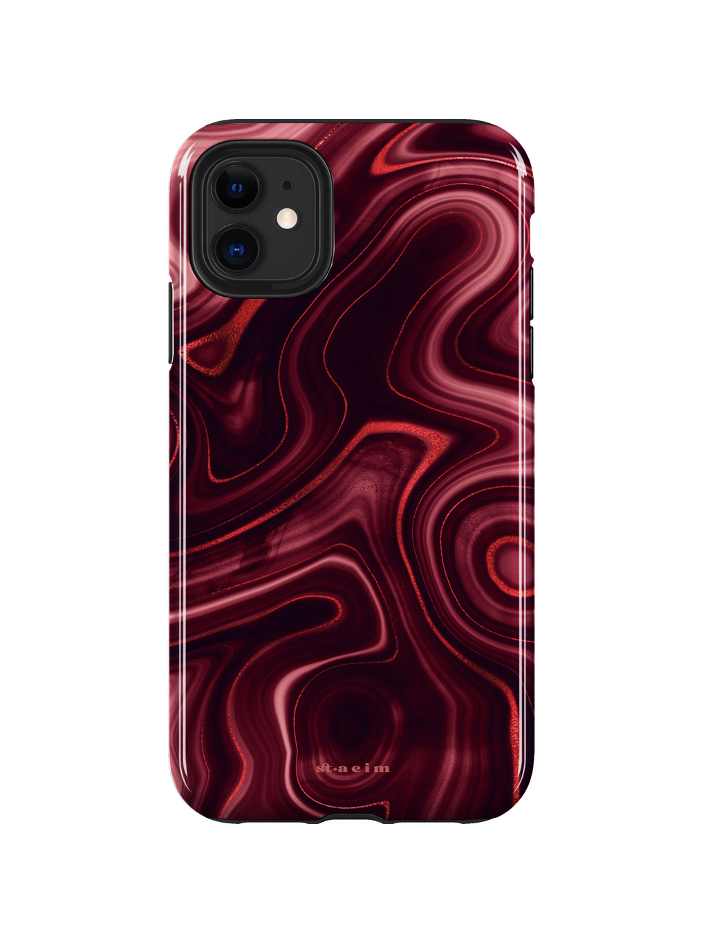 STAEIM | Deep Red Agate Marble iPhone 11 Case