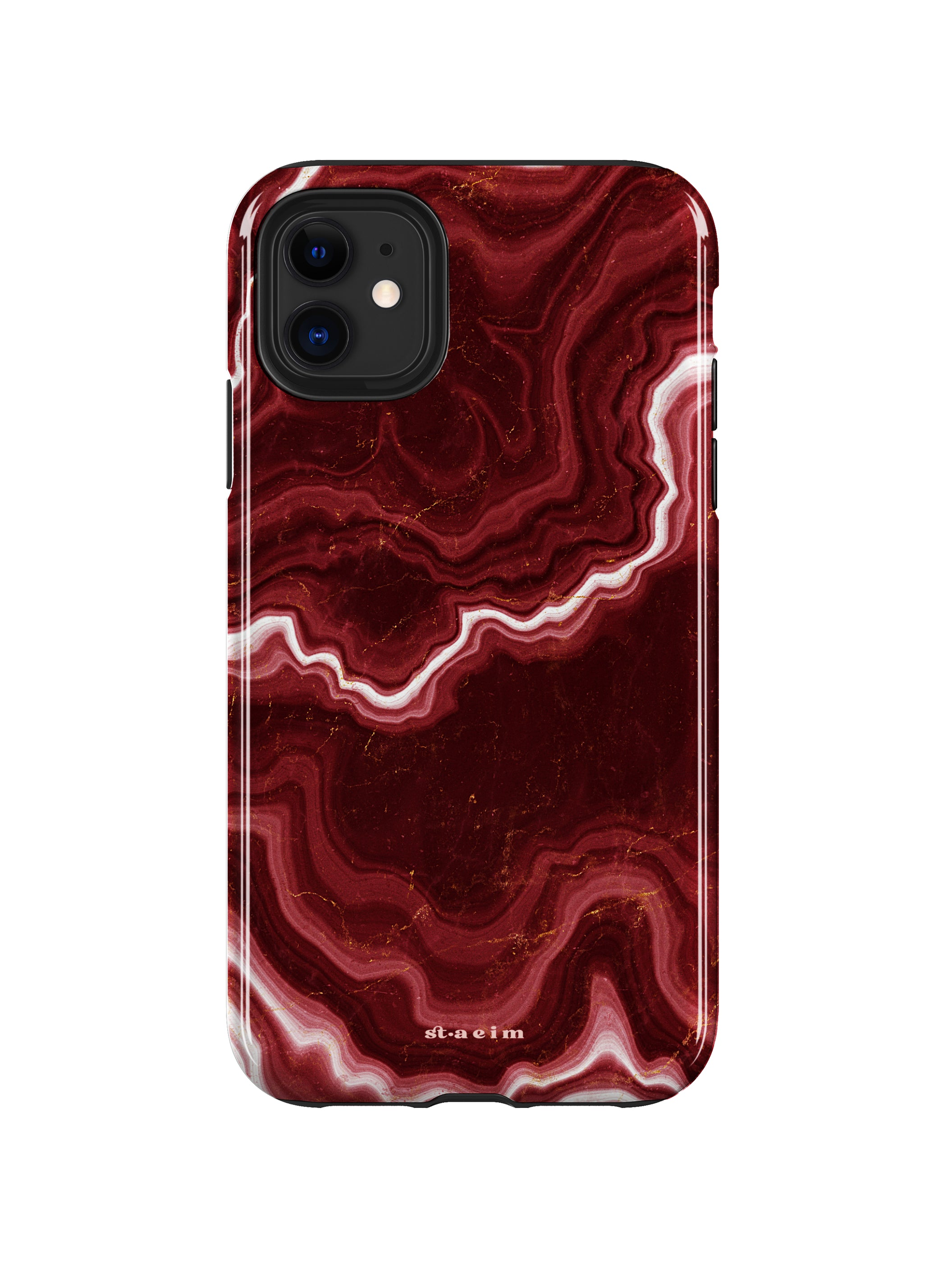 STAEIM | Sliced Red Agate Marble iPhone 11 Case