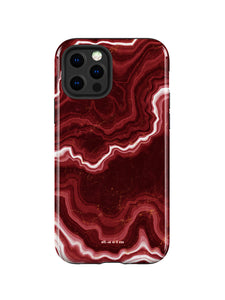 STAEIM | Sliced Red Agate Marble iPhone 12 Pro Max Case