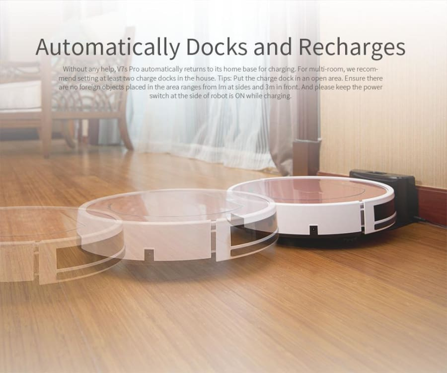 Echo Smart Home Ilife V7s Rose Gold Robot Vacuum Cleaner With Self