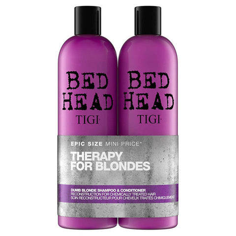 TIGI BED HEAD DUMB BLONDE KIT XL SHAMPOO 750ml + CONDITIONER 750ml