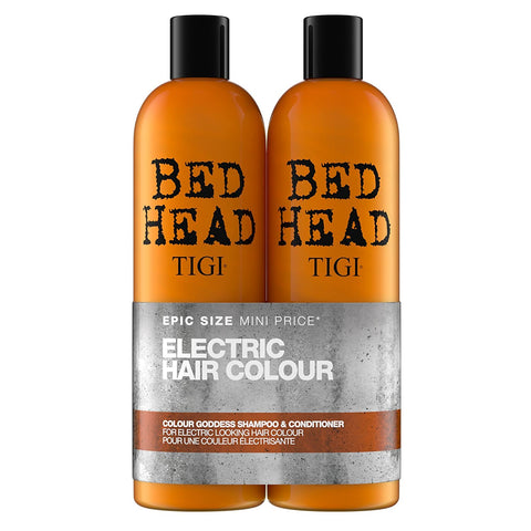 TIGI BED HEAD COLOR GODDESS KIT XL SZAMPON 750ml + ODŻYWKA 750ml