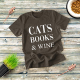 Cats Books And Wine T-shirt