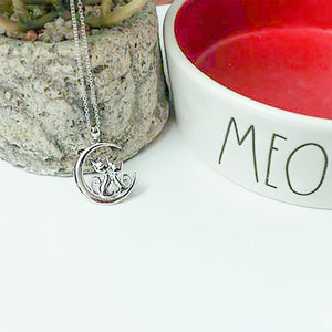 Best Friends Moon Necklace