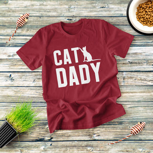 Cat Daddy Text T-shirt