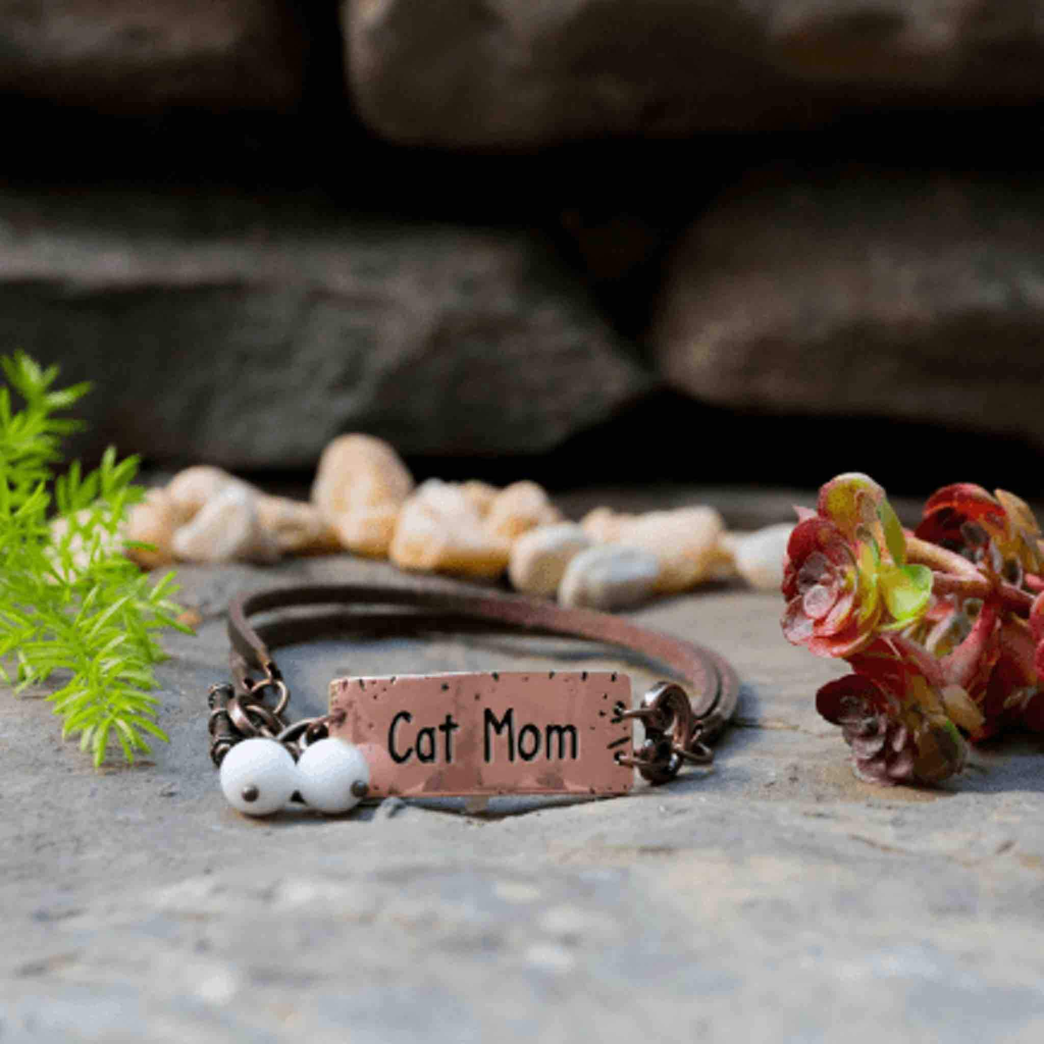 Cat Mom Rustic Bracelet
