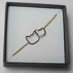 Linked Kittens Chain Bracelet