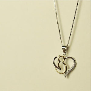 My Best Friend Heart Necklace