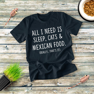 All I Need Sleep Cats T-shirt