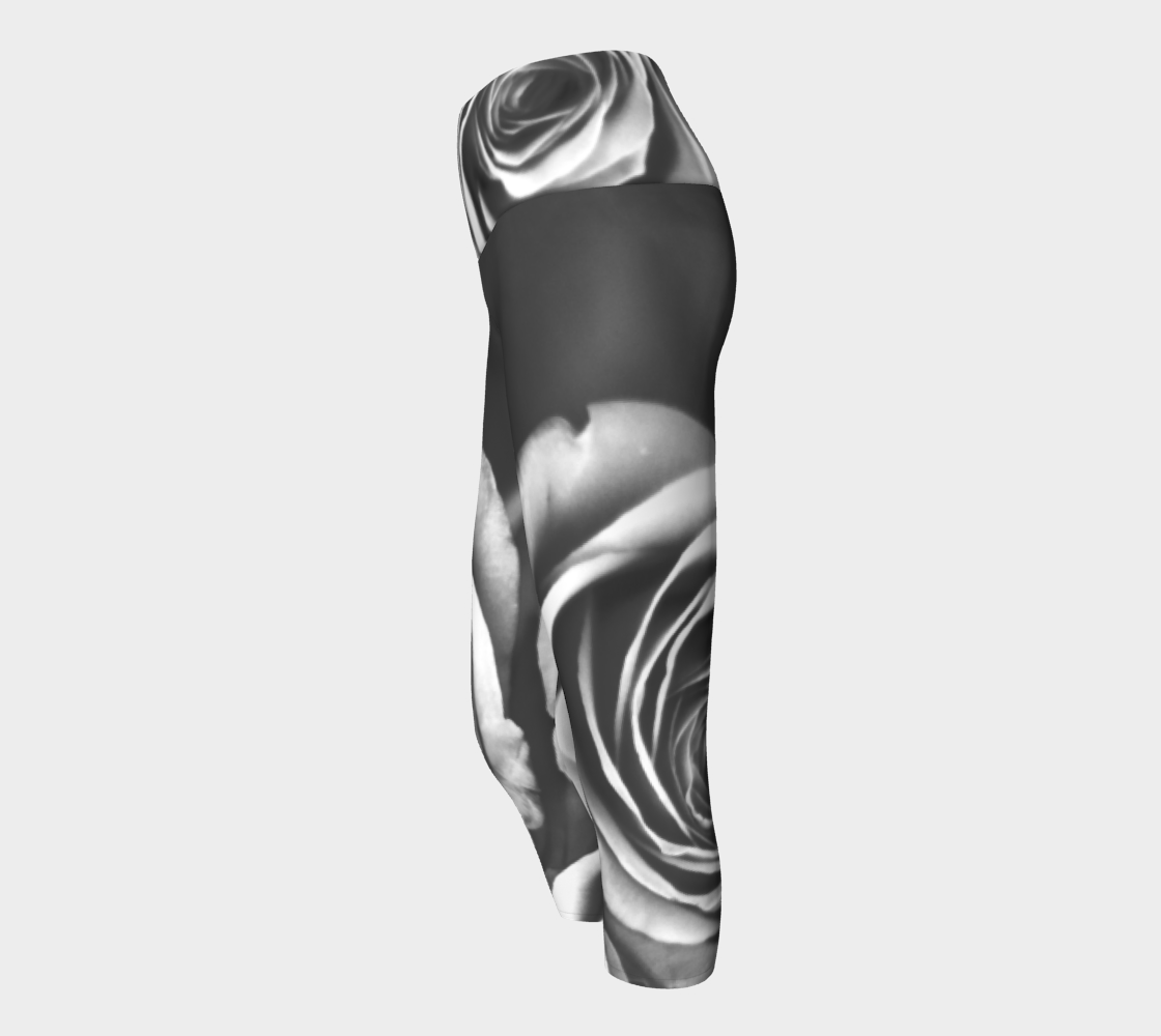 Zebra Rose Yoga Capris