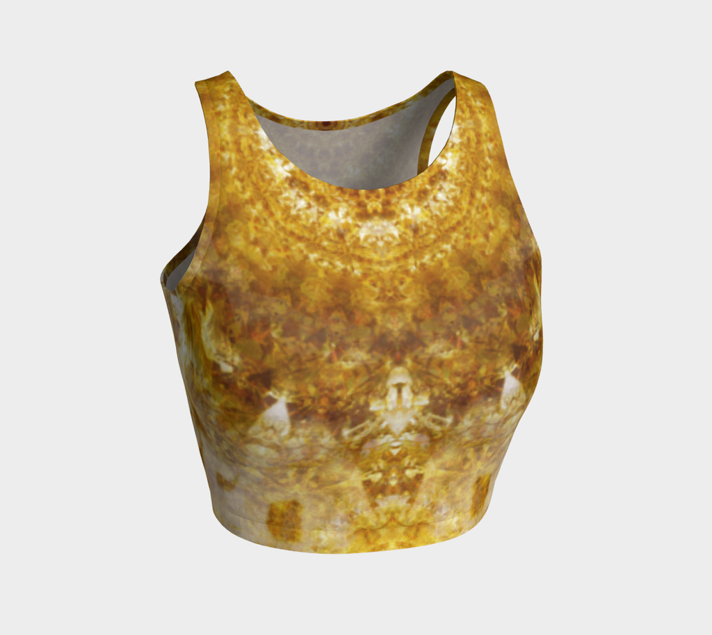 'Royal Fire': Athletic Crop Top: Design 3