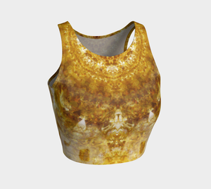 Phototapestry No. 64: Athletic Crop Top: Design 3