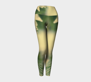 Fern Feathers: Yoga Leggings: Design 2