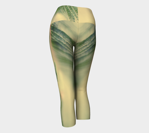 Fern Feathers: Yoga Capris: Design 1