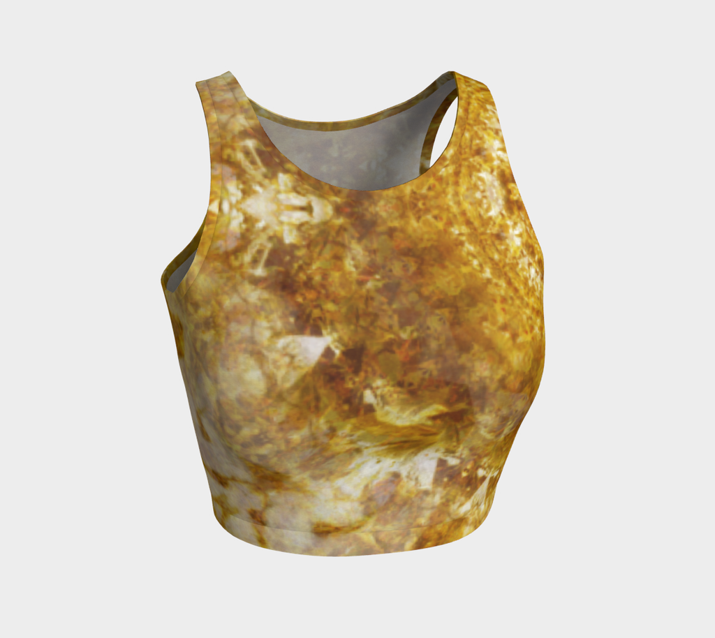 'Royal Fire': Athletic Crop Top