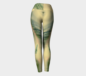 Fern Feathers: Yoga Leggings: Design 1