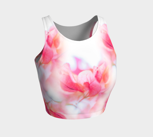 Magenta Harvest Athletic Crop Top: Design 2