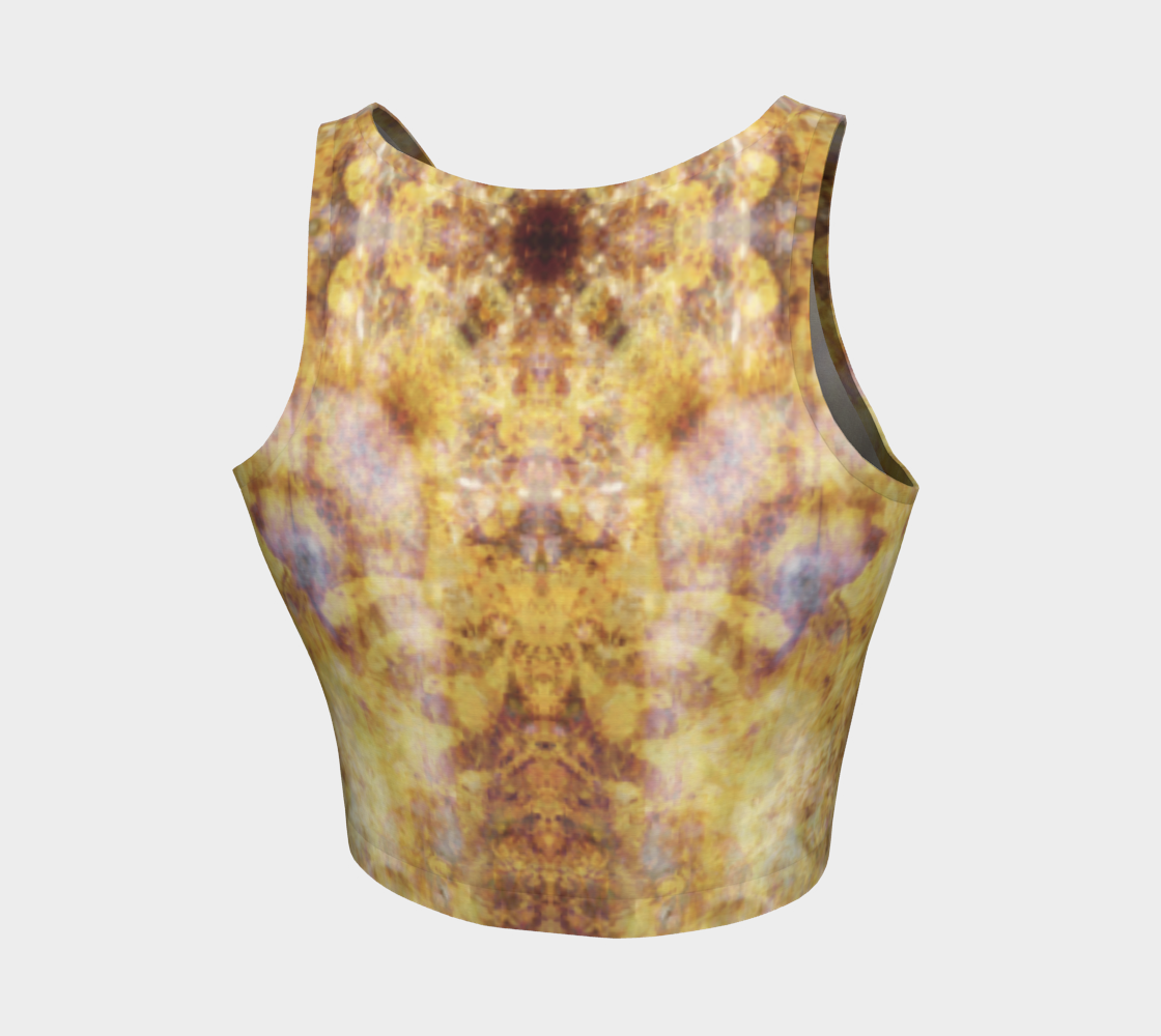 'Chandelier': Athletic Crop Top: Design 2
