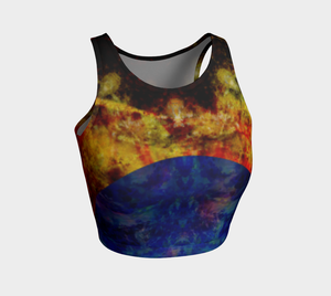 'Miranda': Athletic Crop Top: Design 2