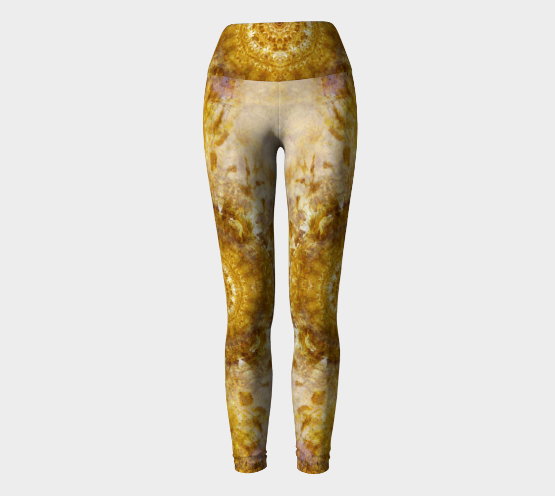 Royal Fire Yoga Leggings: Design 1