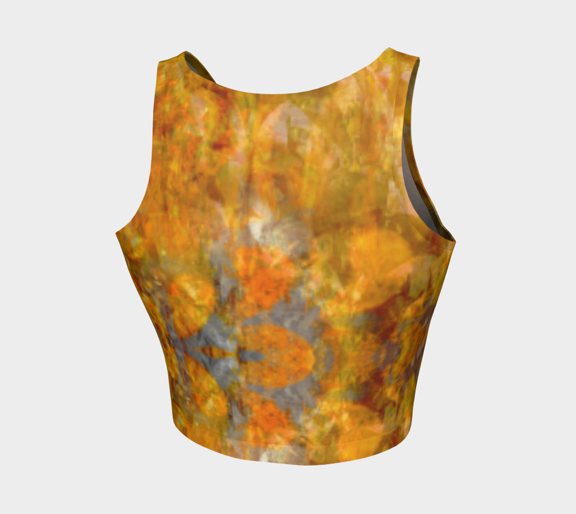 'Copper Filigree': Athletic Crop Top