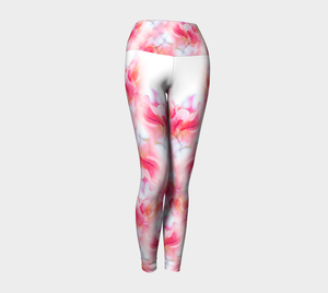 Magenta Leaves No. 2: Yoga Leggings