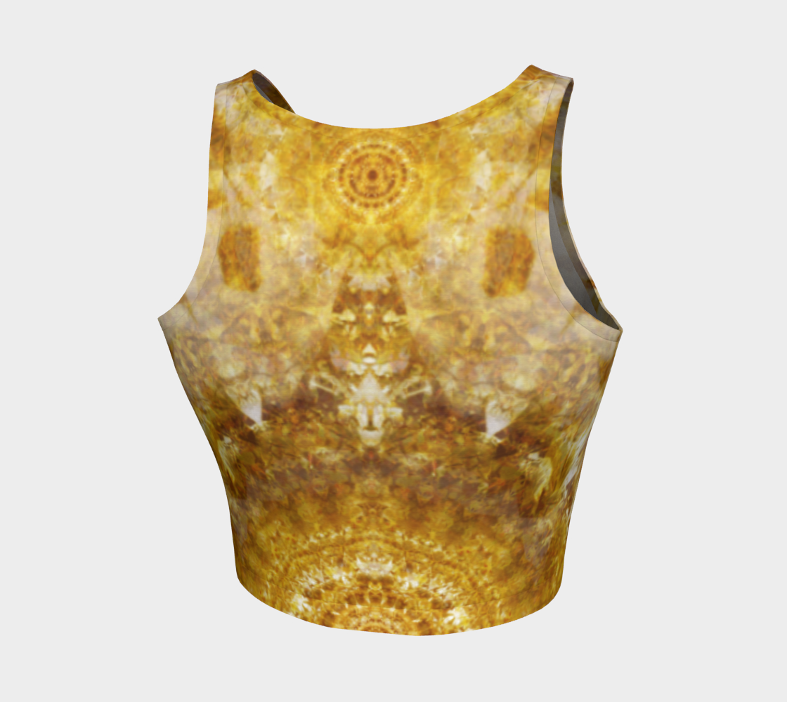 Royal Fire Athletic Crop Top (Symmetric 1)