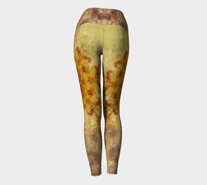 'Slow Burn': Yoga Leggings Design 1