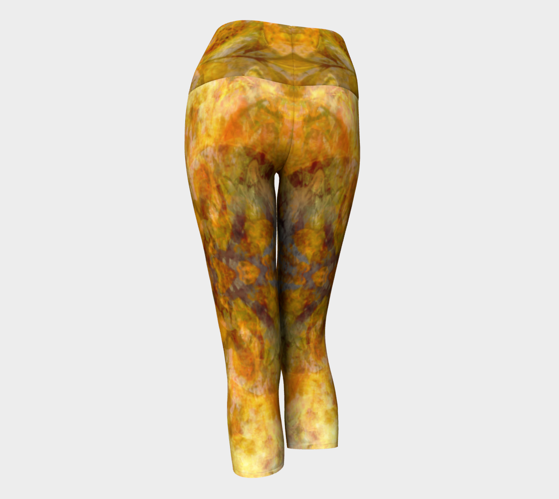 'Copper Filigree': Yoga Capris