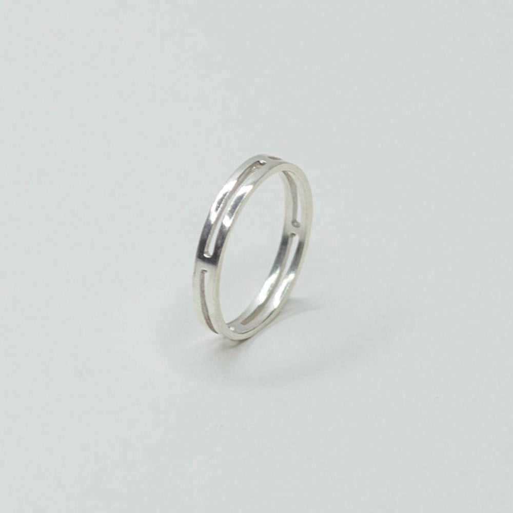 Single / Not Married Silver Ring