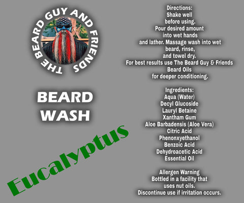 8oz Eucalyptus Beard Wash