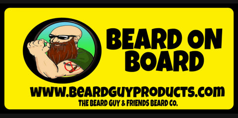 Beard on Board mini bumper sticker