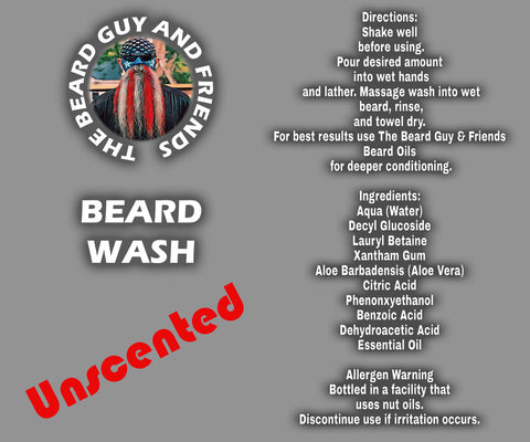 8oz Unscented Beard Wash