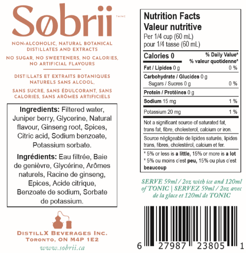 Sobrii - Alcohol Free Gin MADE IN CANADA