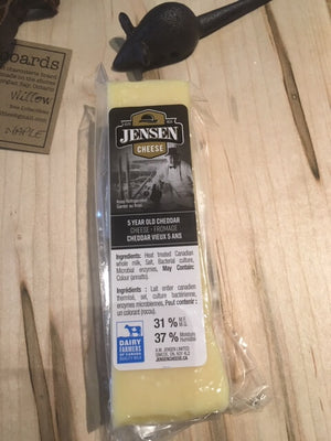 5 yr Old and 2 yr Old Jensen White Cheddar Cheese