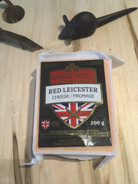 Coombe Castle Premium Cheeses Red Leicester and Double Gloucester