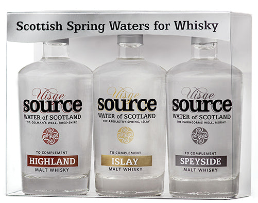 Whisky Water from Uisge Source - Set of three