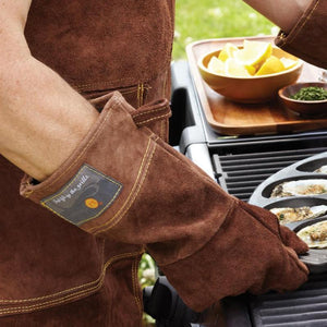 Leather Barbeque Gloves