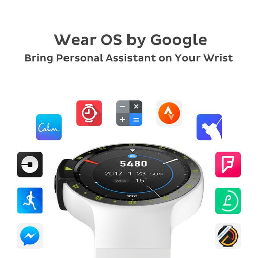 [Ready stock!] Ticwatch S Glacier, most comfortable smartwatch, WearOS by google