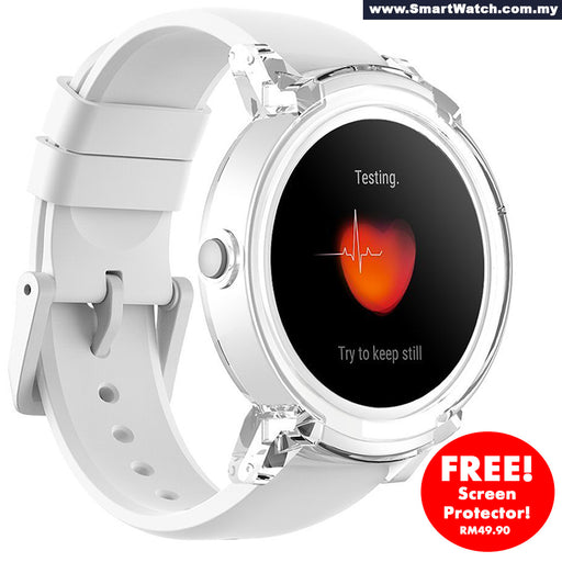Couple smartwatch, 1X Black + 1X White Ticwatch E Shadow, most Comfortable Smart Watch